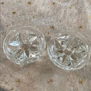 2/$10 crystal candle holders